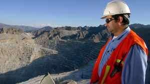 Xstrata's Minera Alumbrera open pit mine in Argentina.