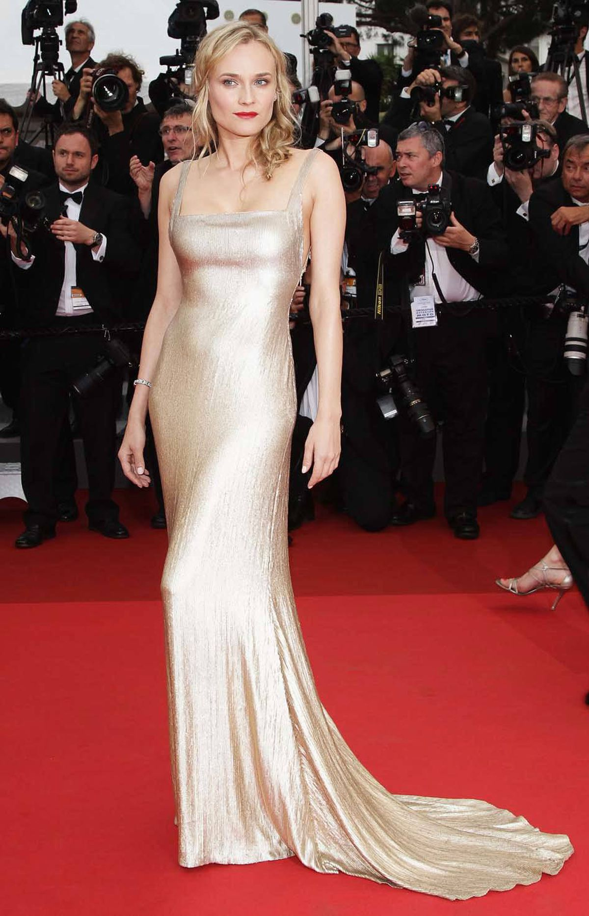 "Actress Diane Kruger on the red carpet for the ""Sleeping Beauty"" premiere at the Cannes Film Festival on Thursday."
