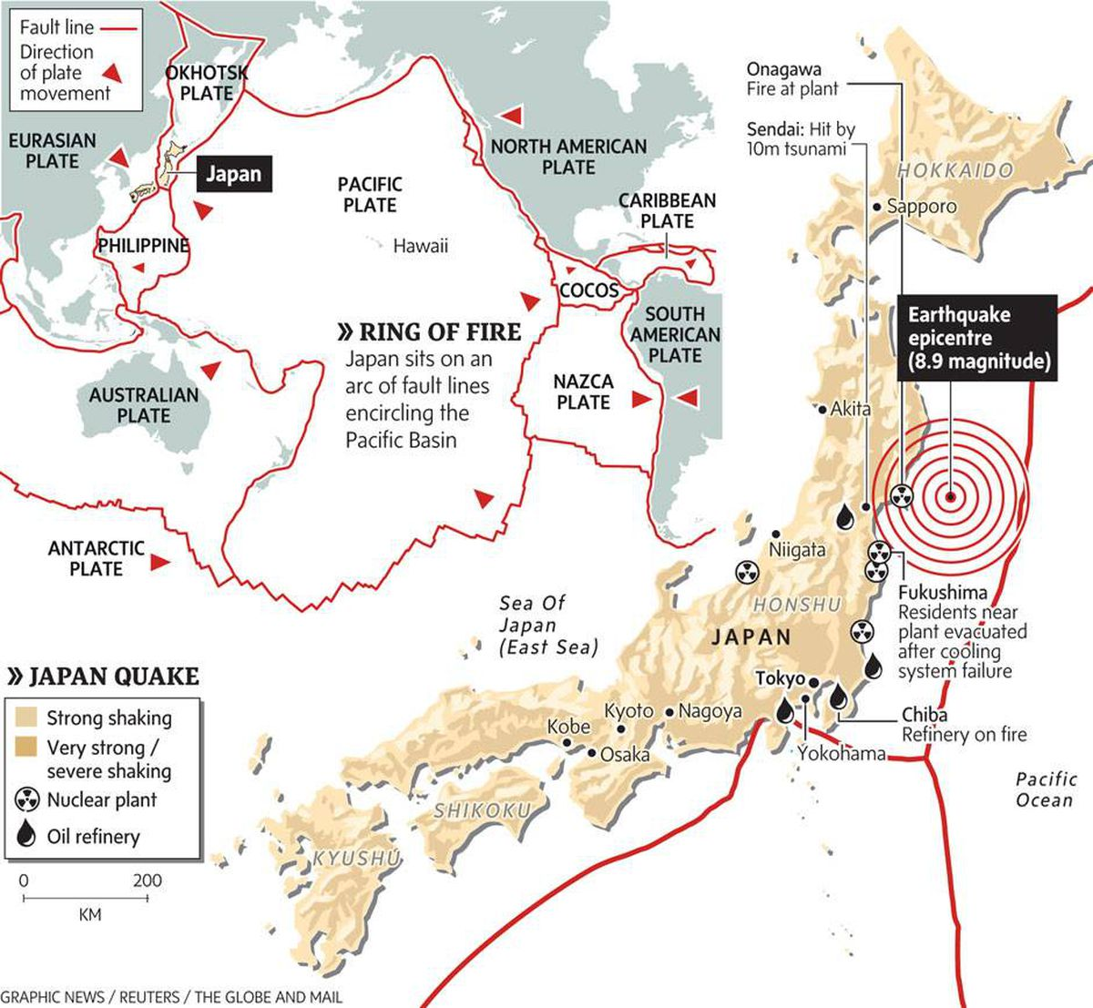 Japan sits atop deadliest section of Ring of Fire The Globe and Mail