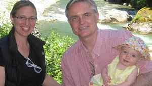 B.C. attornet-general Barry Penner seen here with his family, resigned from office on August 18, 2011.