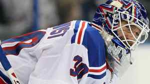 Goaltender Henrik Lundqvist and the New York Rangers face the Toronto Maple Leafs on Monday night. Kim Klement-US PRESSWIRE