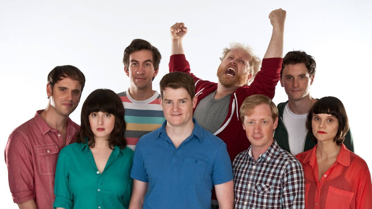 The Halifax-based comedy troupe Picnicface (left to right) Andrew Bush, Evany Rosen, Mark Little, Scott Vrooman, Brian Eldon Macquarrie, Bill Wood, Kyle Dooley and Cheryl Hann in a handout photo.