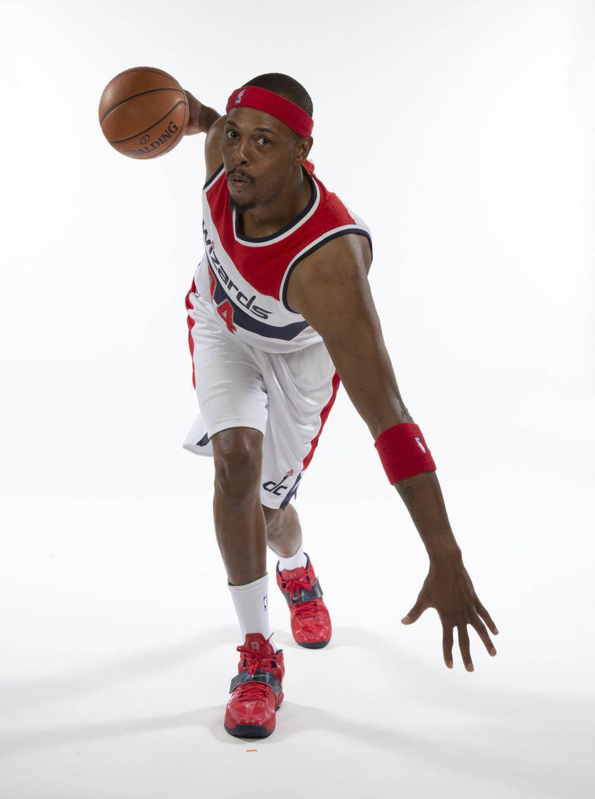 premium selection de394 7f5a4 Paul Pierce shows off Wizards uniform as team prepares for ...