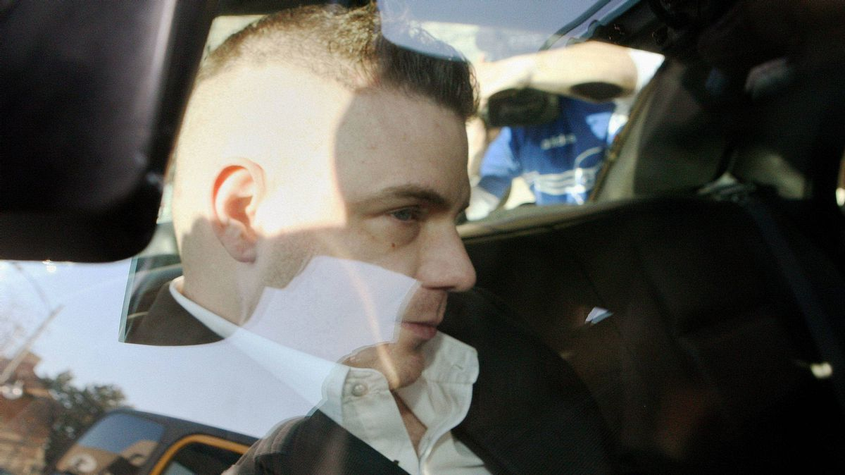 Michael Rafferty is transported from the courthouse in the back of police cruiser in London, Ont., on March, 14, 2012. Mr. Rafferty is facing charges in the death of Victoria (Tori) Stafford.