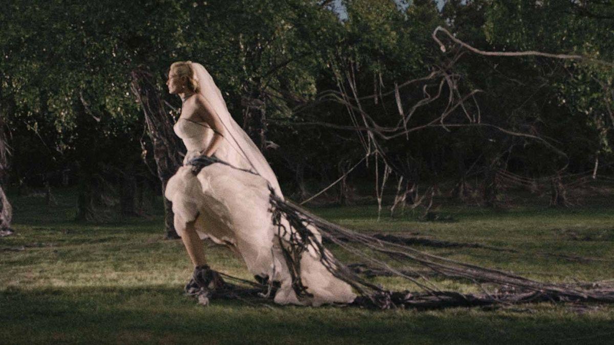 "Kirsten Dunst in a scene from ""Melancholia"""