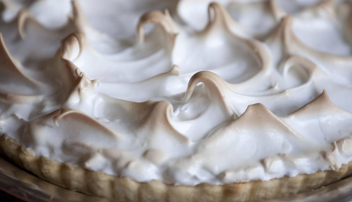 Detail of Lemon meringue.