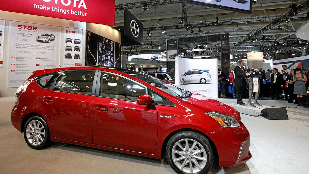 Stephen Beatty, managing director of Toyota Canada, introduced the 2012 Toyota Prius V as it makes its Canadian debut at the Canadian International Auto Show in Toronto.