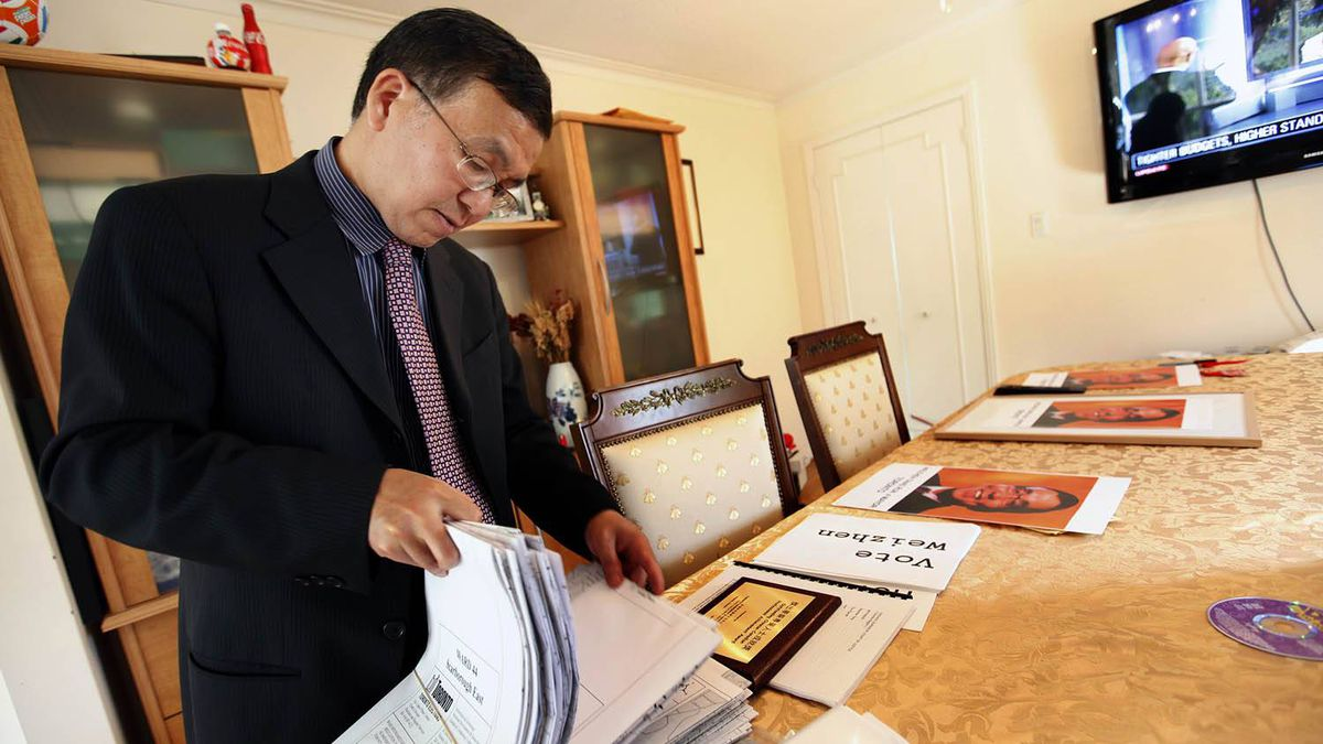 Weizhen Tang, a professed fan of former Toronto mayor Mel Lastman, has promised smaller government and more foreign investment in his platform for the city's mayoral race. Deborah Baic/The Globe and Mail