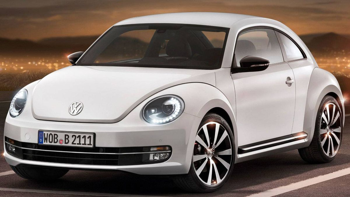 The broad stance of the 2012 VW Beetle gives the car greater interior volume, and gives the car a more muscular presence than the previous model.