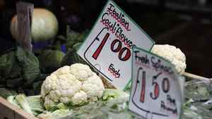 Vegetables are seen for sale in Soho's Berwick Street Market in central London May 17, 2011.
