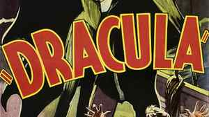 A detail from the original movie poster for the 1931 horror thriller Dracula, starring Bela Lugosi.