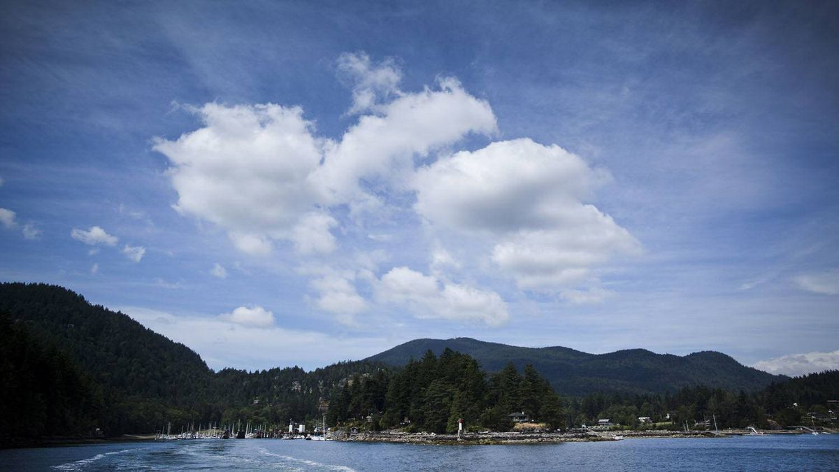 Bowen Island as seen from a BC ferry July 13, 2010.