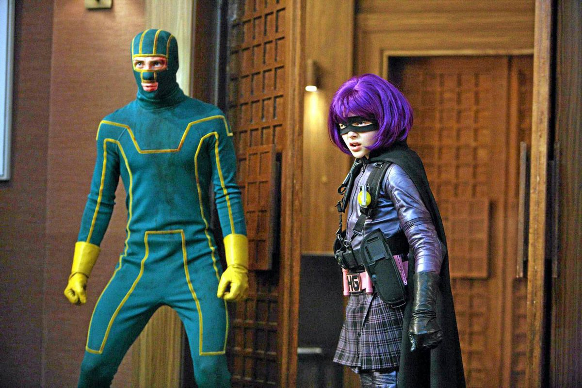 Aaron Johnson and Chloe Moretz in Kick-Ass.