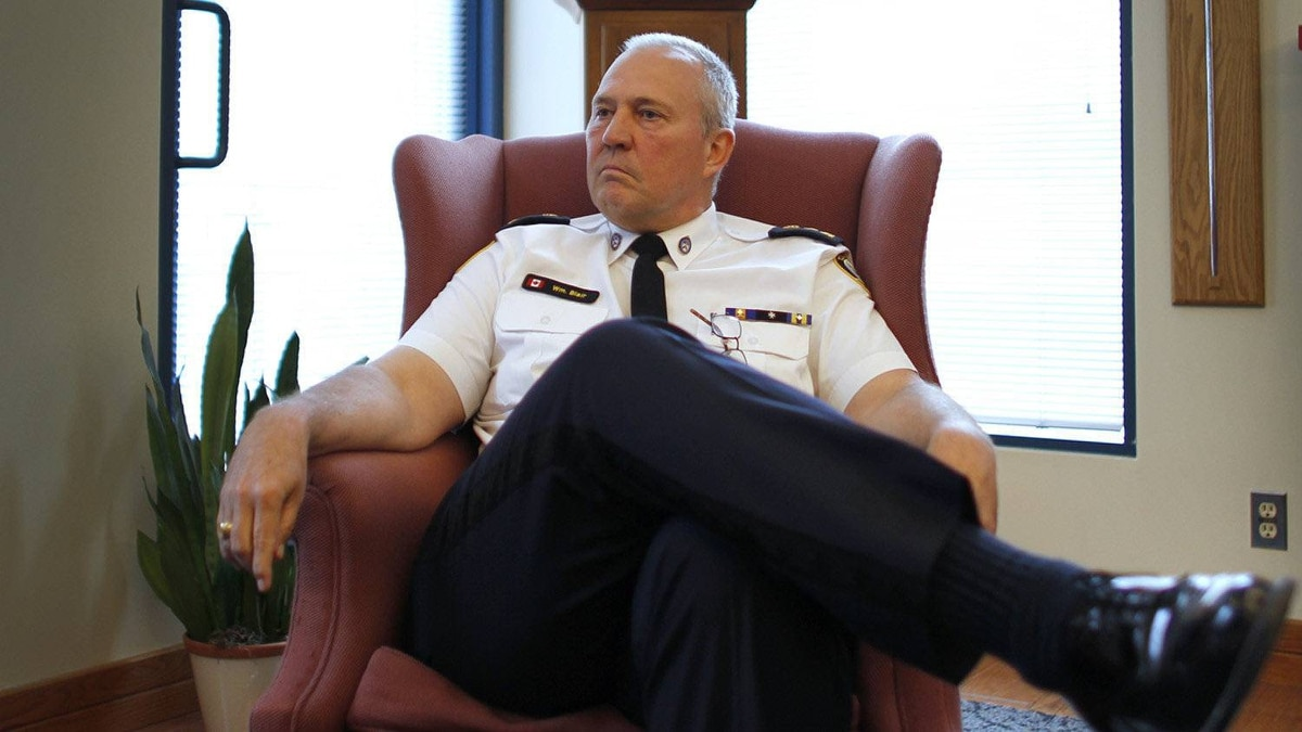 Toronto Police Chief Bill Blair speaking to The Globe and Mail on June 24, 2011.
