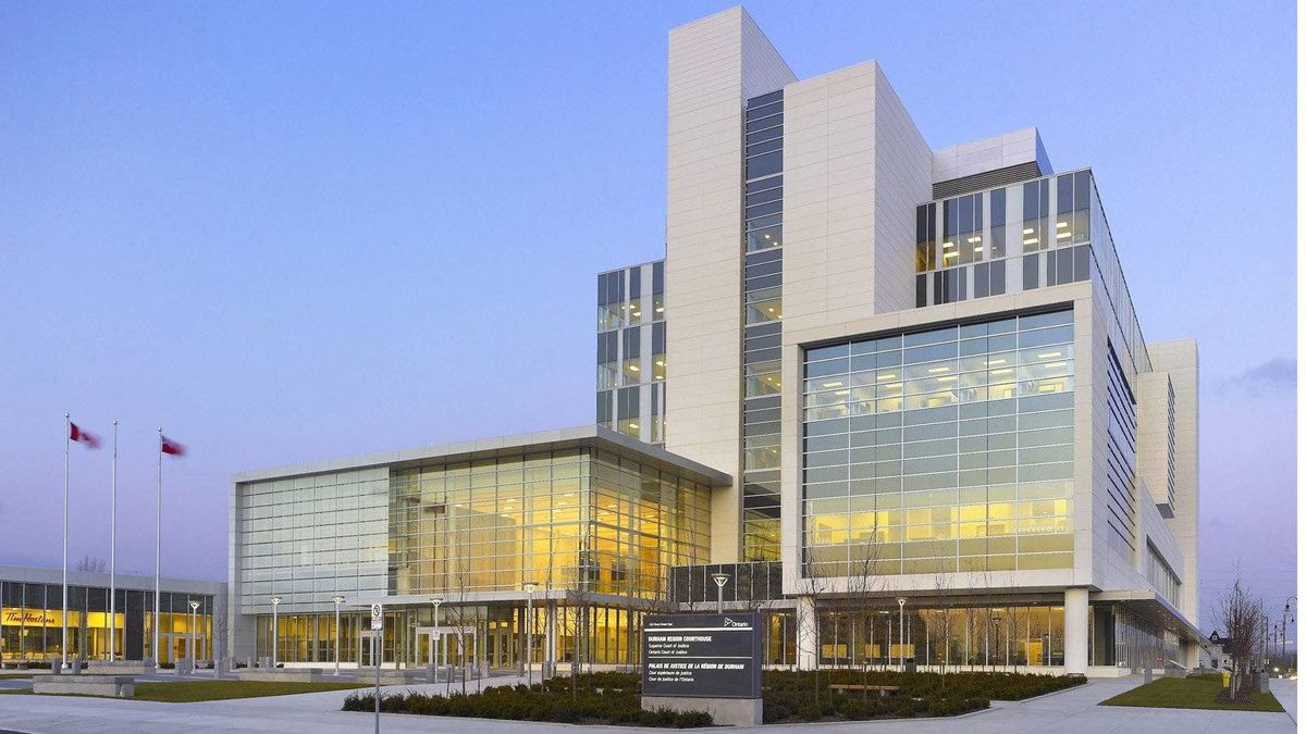 The Durham Consolidated Courhouse sits on a six-acre site acquired from General Motors and remediated at the city's expense. Its clean, bright look has brought two awards - for brownfield redevelopment and green building.