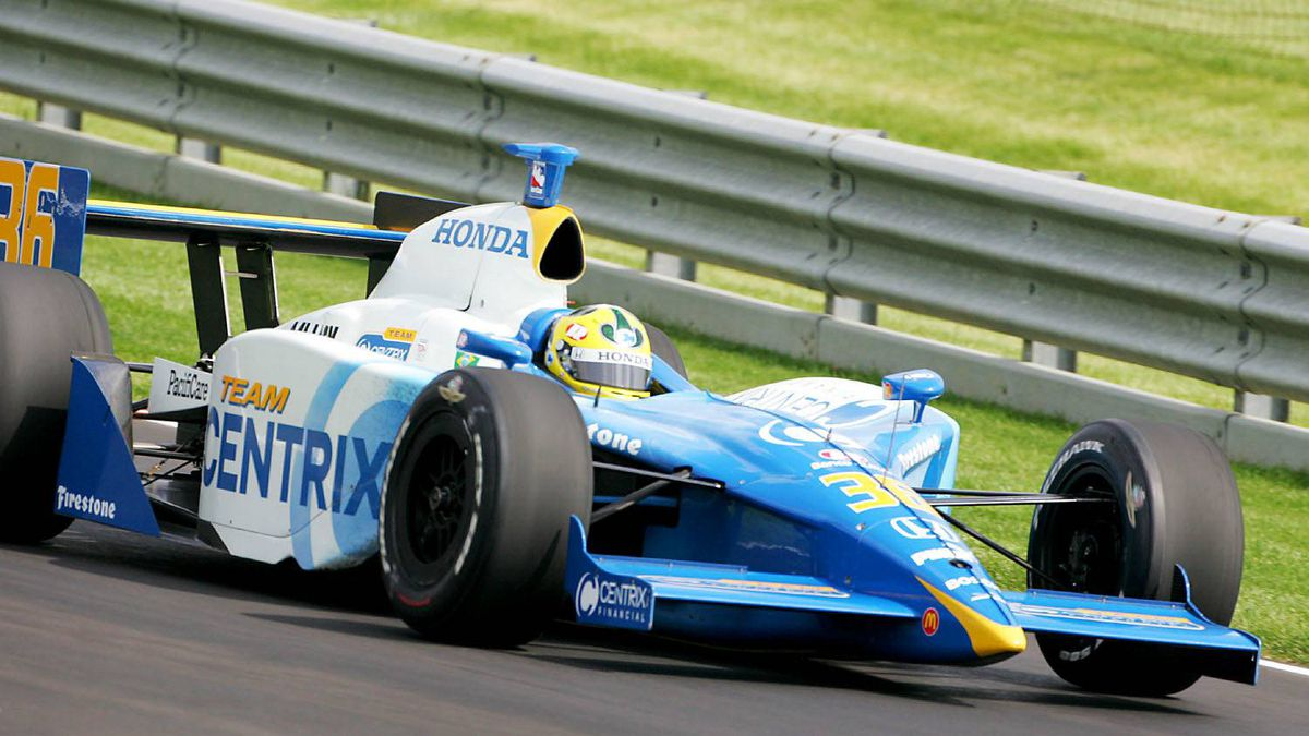 2005 Indianapolis 500 Bruno Junqueira's career was put in doubt after he suffered two fractured vertebrae in a horrific high-speed crash caused by back marker A.J. Foyt IV who clipped the Newman/Hass driver's left rear tire while being lapped.
