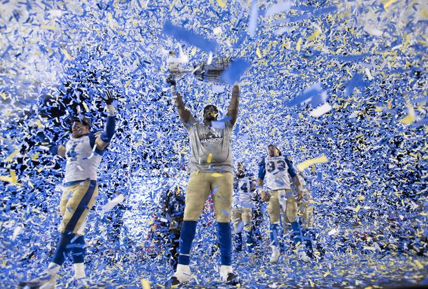 Blue Bombers Crush Tiger Cats To Win First Grey Cup Title In