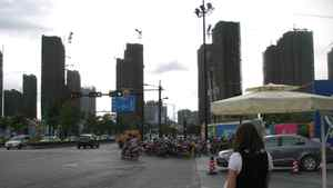Construction of new buildings in Hangzhou