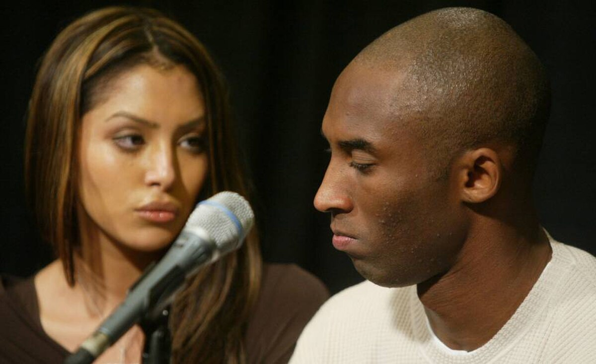 Kobe Bryant, shown with his wife, Vanessa, plays basketball for the Los Angeles Lakers. In 2003, Katelyn Faber, a 19 year-old employee at a hotel where Mr. Bryant was a guest, accused him of sexual assault. He admitted a sexual encounter took place with the woman, but denied allegations of assault. Charges were dropped after Ms. Faber refused to testify. ?Although I truly believe this encounter between us was consensual,? said Mr. Bryant in a statement after his court hearing, ?I recognize now that she did not and does not view this incident the same way I did.?