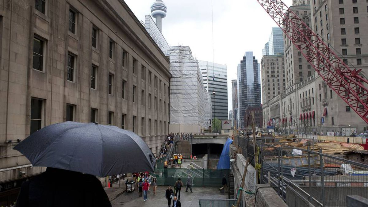 Thirty years later, renovations are again underway at Toronto's Union Station on May 9, 2013.