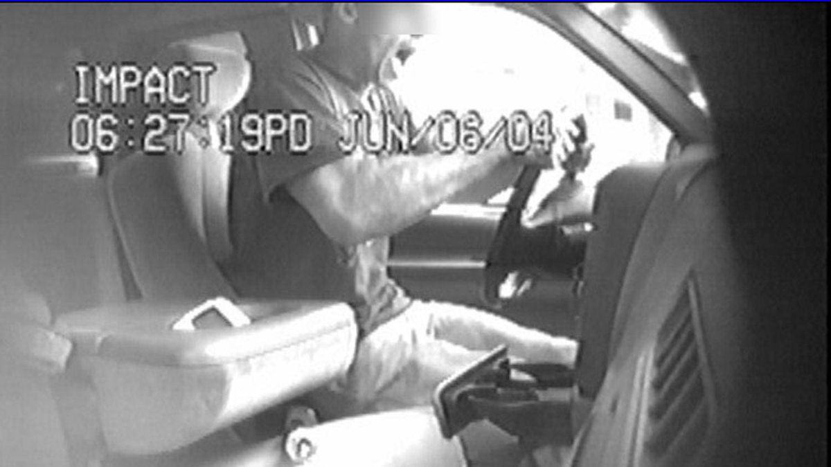 Suspect in a bait car taken from a video.