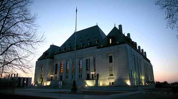 Supreme Court of Canada is seen in Ottawa