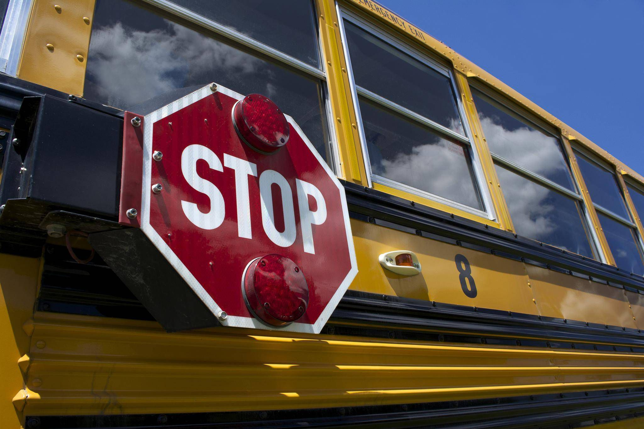 Twelve people sent to hospital after school bus crash on Edmonton freeway