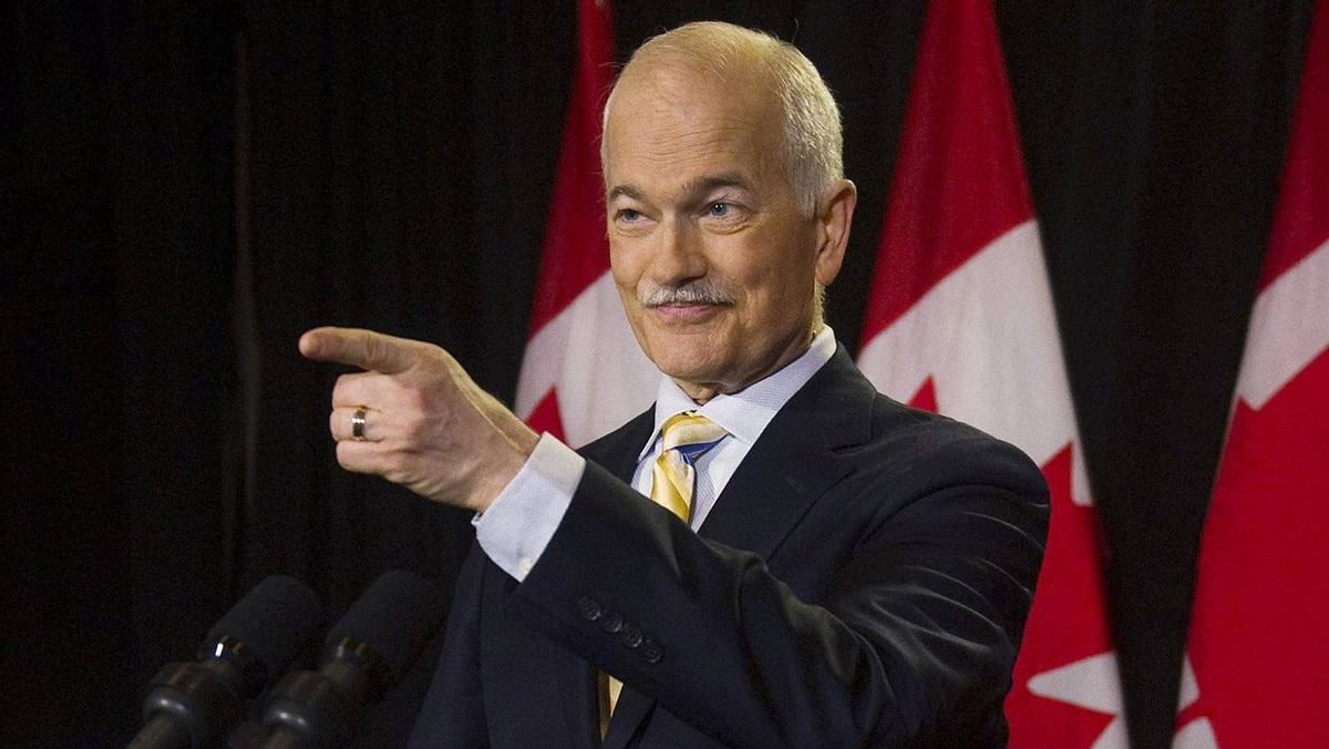Jack Layton, NDP leader and now officially the leader of the opposition, speaks to the media at a press conference in Toronto on Tuesday, May 3, 2011.