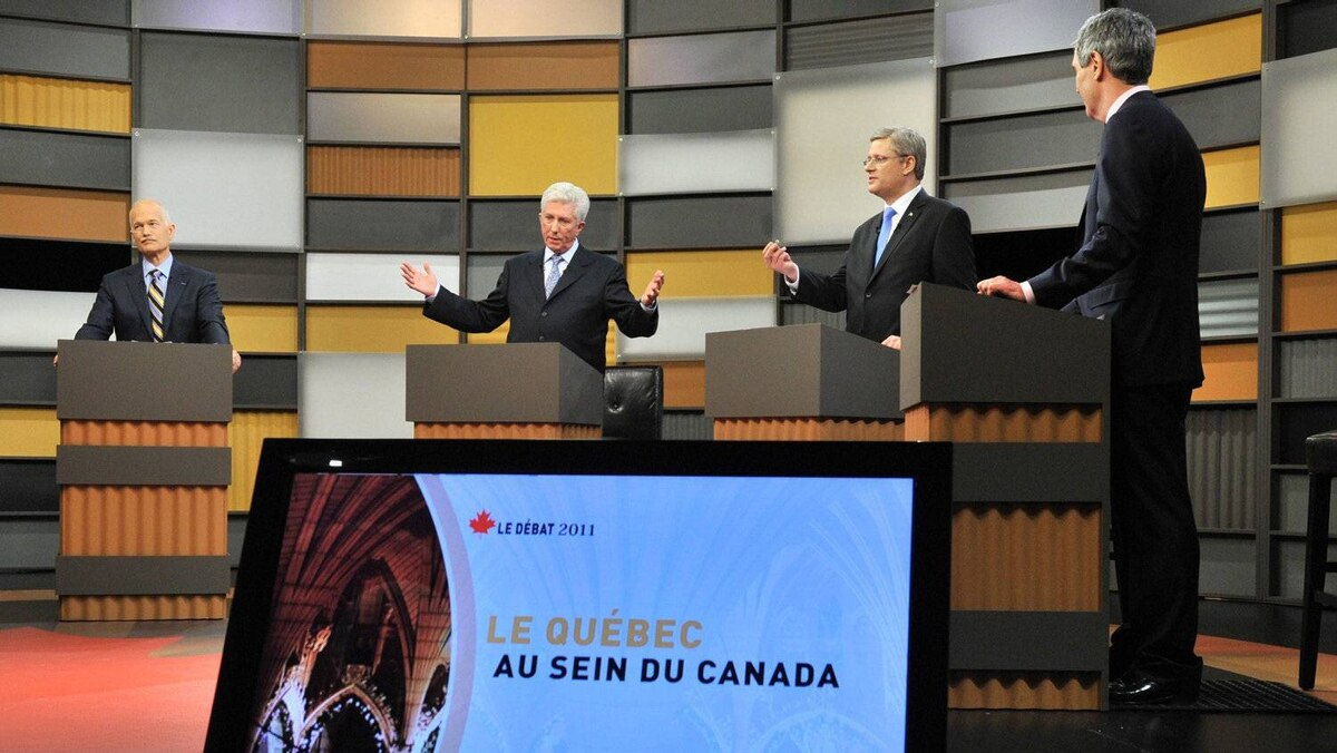 The leaders of four federal political parties take part in the French-language debate Wednesday night.