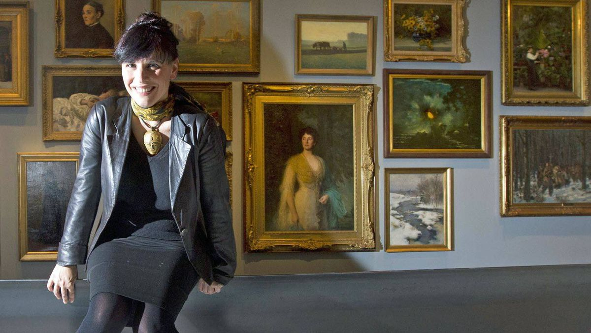 Nathalie Bondil, director of the MMFA, inside the galleries of the new Bourgie Pavilion in Montreal, February 1, 2012.
