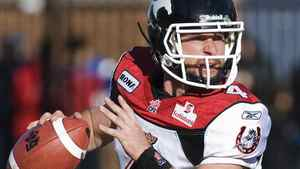 Calgary Stampeders' quarterback Drew Tate. THE CANADIAN PRESS/Graham Hughes