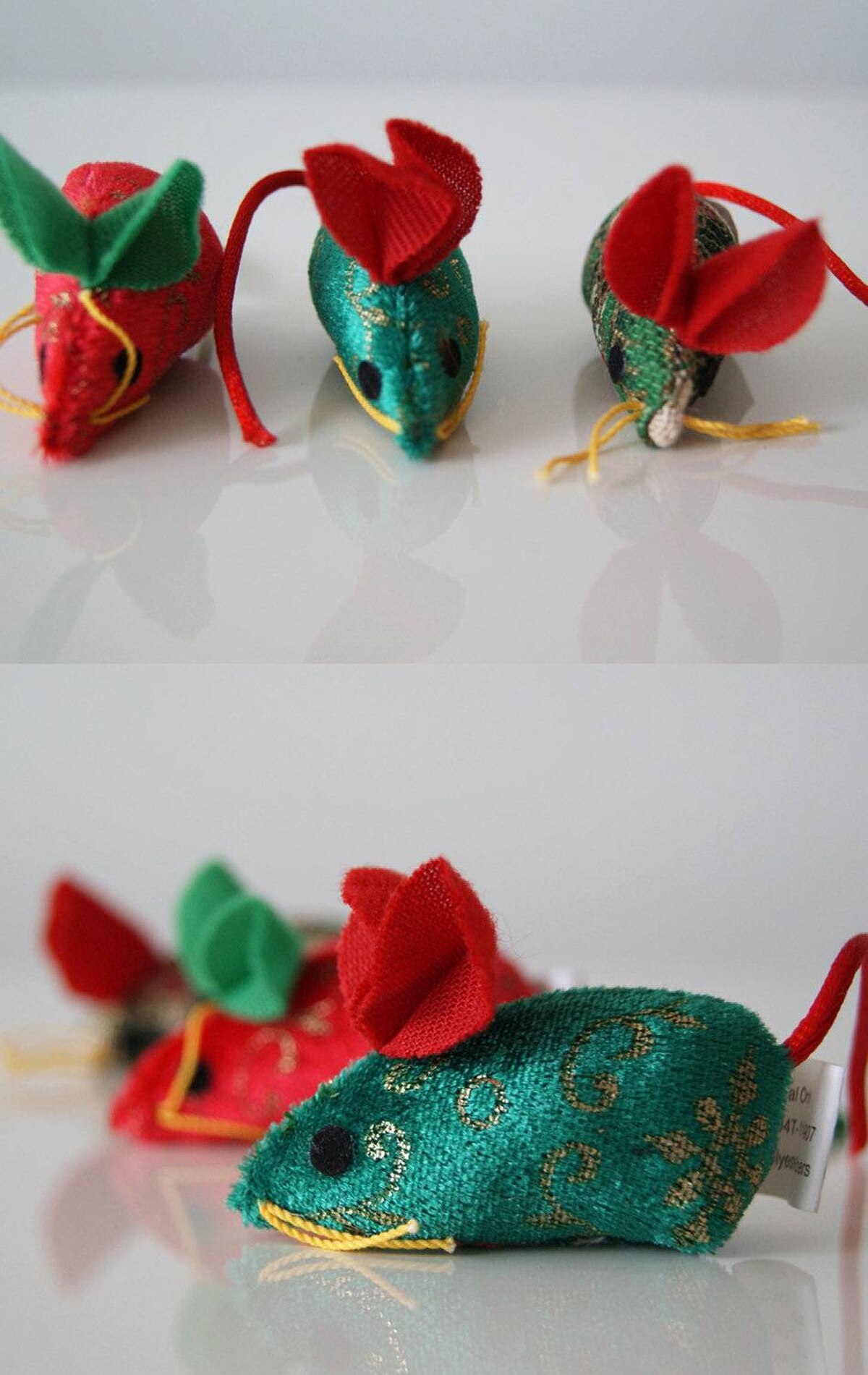 Your cat's toys will be sprawled around the house anyway - so they might as well be festive and cute. These tiny mice will entertain your feline friend with hours of batting, and give your place a nice added sparkle, too. Pet Valu, $3.99.