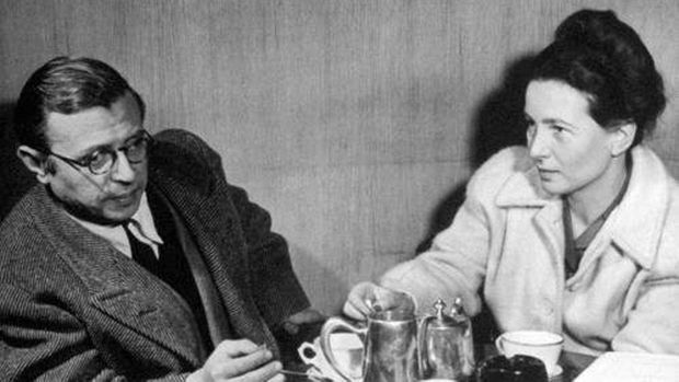Jean-Paul Sartre and Simone de Beauvoir in an undated photo.