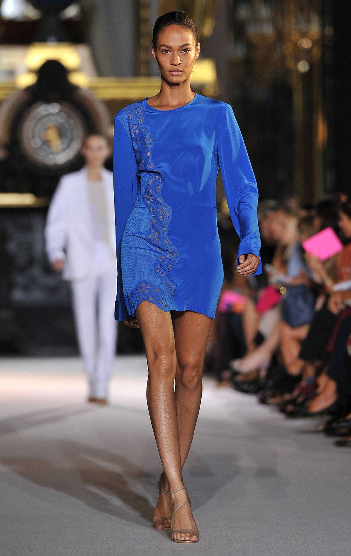 A model walks the runway during the Stella McCartney ready-to-wear spring/summer 2012 show during Paris Fashion Week on October 3, 2011 in Paris.