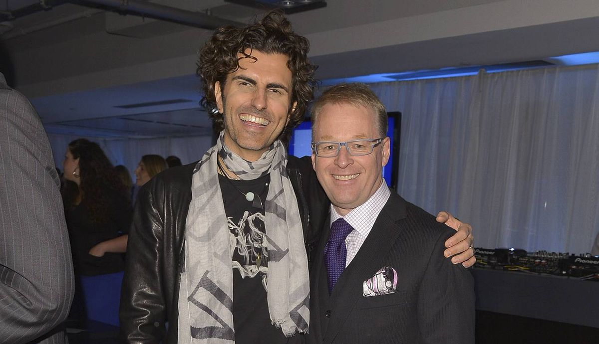 GP_2366 ��� Stephan Moccio and Keith Pelley attend Hello! Canada?s Most Beautiful Canadians red-carpet cocktail reception on May 9, 2012, at smart Centre Downtown in Toronto. Photo by George Pimentel