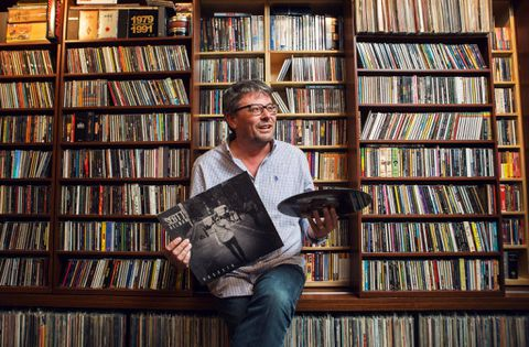 The record exec, his massive record collection and a future where records won't matter