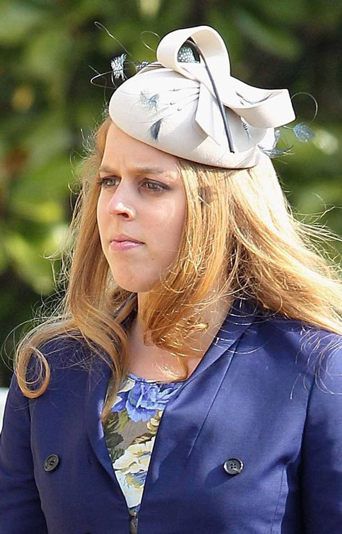 Britain's Princess Beatrice arrives for a service at St George's Chapel in Windsor, southern England March 30, 2012.