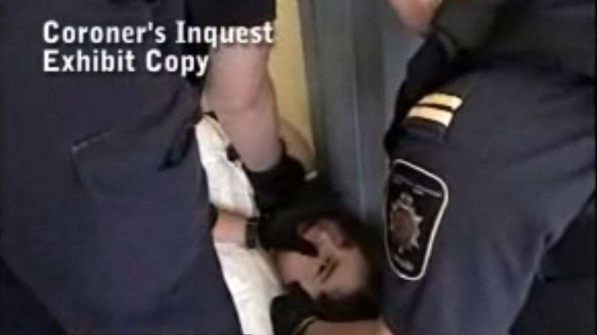 A video showing an incident at a federal prison involving Ashley Smith.