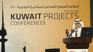 Kuwait Petroleum Corporation Chief Executive Farouk Al-Zanki speaks at the opening of the Kuwait Projects Conference in Kuwait City on Nov. 29, 2010.