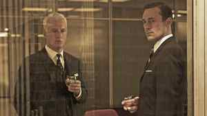 John Slattery and Jon Hamm in a scene from Mad Men.