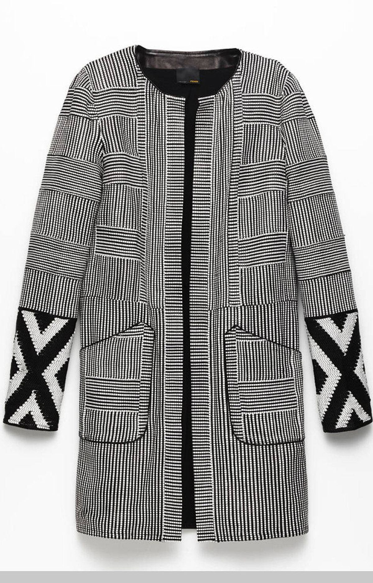 Woven leather jacket by Fendi, $7,995 at Holt Renfrew (www.holtrenfew.com)