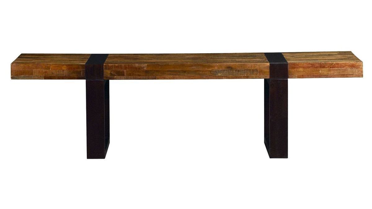 Crate and Barrel's Seguro Coffee Table features a reclaimed-peroba-wood top with solid mahogany legs in an ebony finish. $799 at Crate and Barrel (www.crateandbarrel.com).