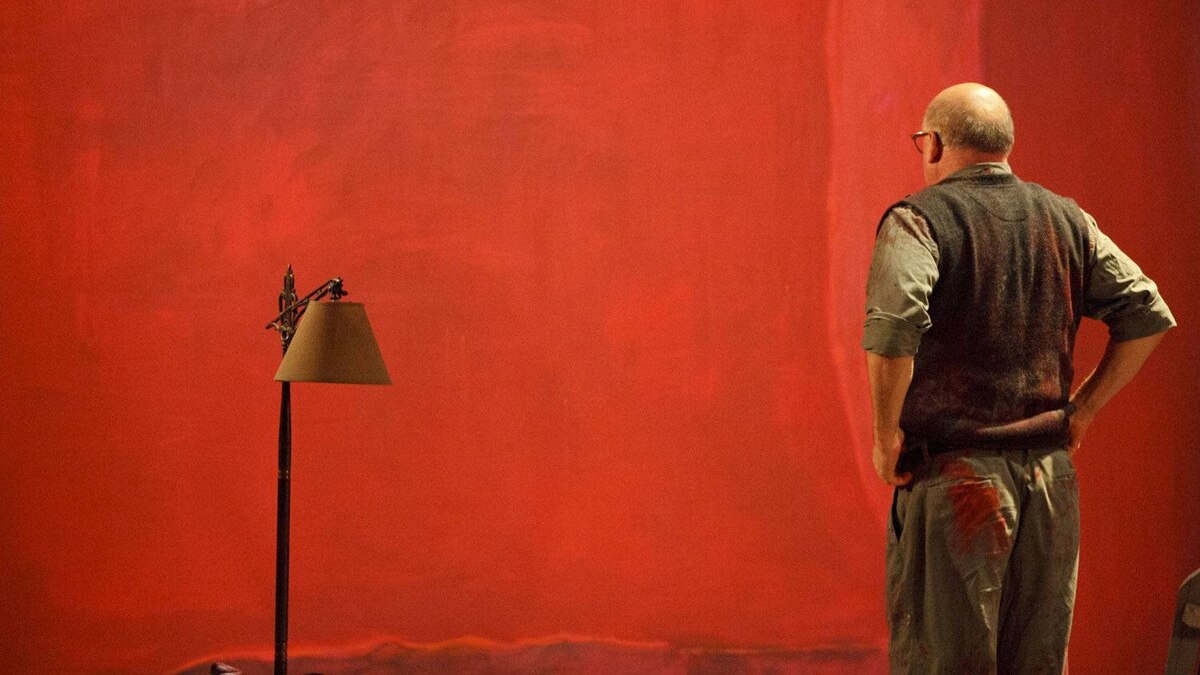 Jim Mezon as Mark Rothko in a production of Red at the Vancouver Playhouse Theatre Company.