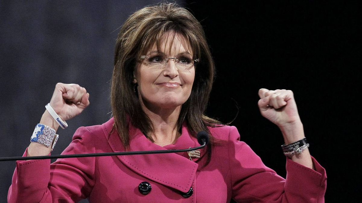 Former Republican vice-presidential candidate Sarah Palin addresses the National Quartet Convention in Louisville, Ky., on Sept. 16, 2010.