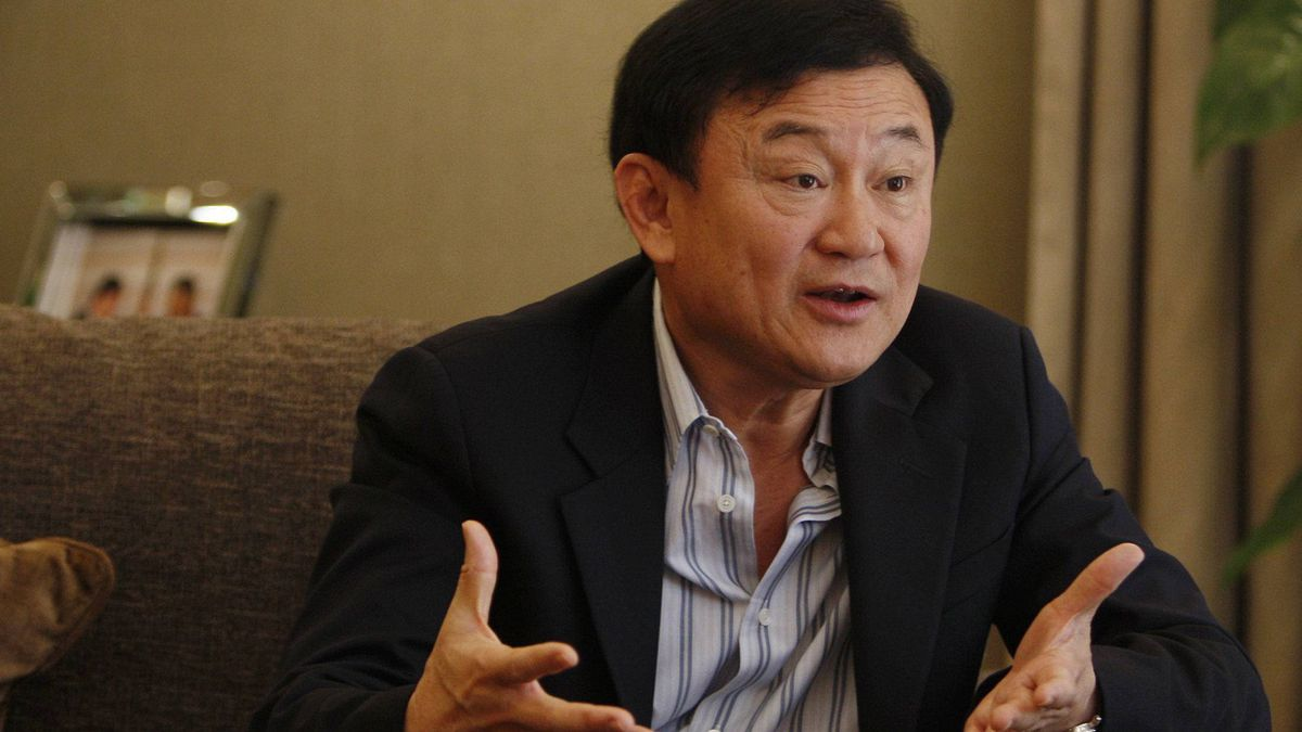 Thailand's former Prime Minister Thaksin Shinawatra speaks during an interview in Dubai, May 27, 2011.