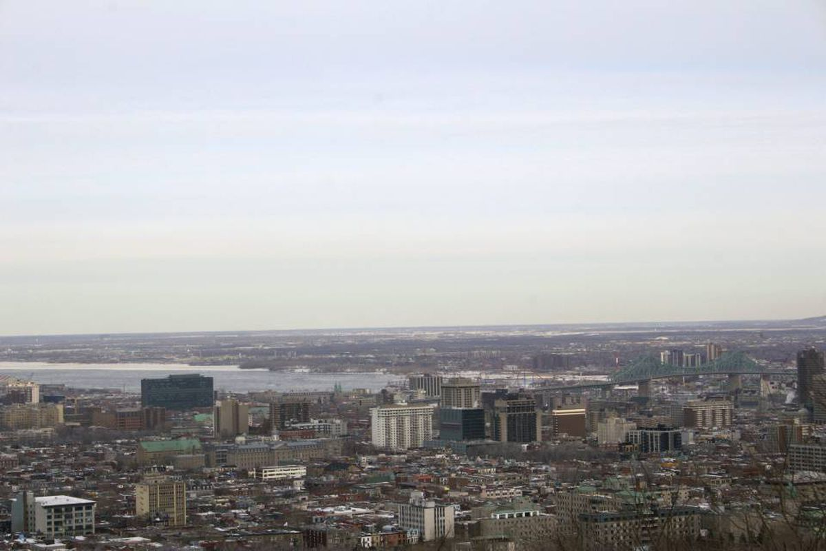 View of the Montreal city from Mont Royal.