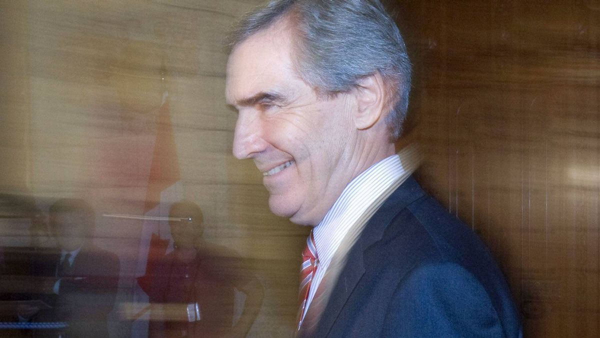 Liberal Leader Michael Ignatieff speaks to reporters after Question Period in Ottawa on Oct.26, 2010.
