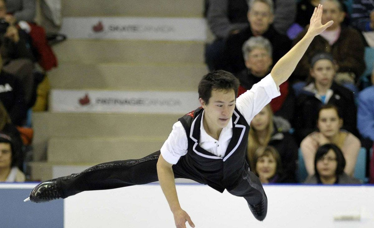 Patrick Chan skates during the Men short program at the Canadian Figure Skating Championships in Moncton, New Brunswick, January 21, 2012.