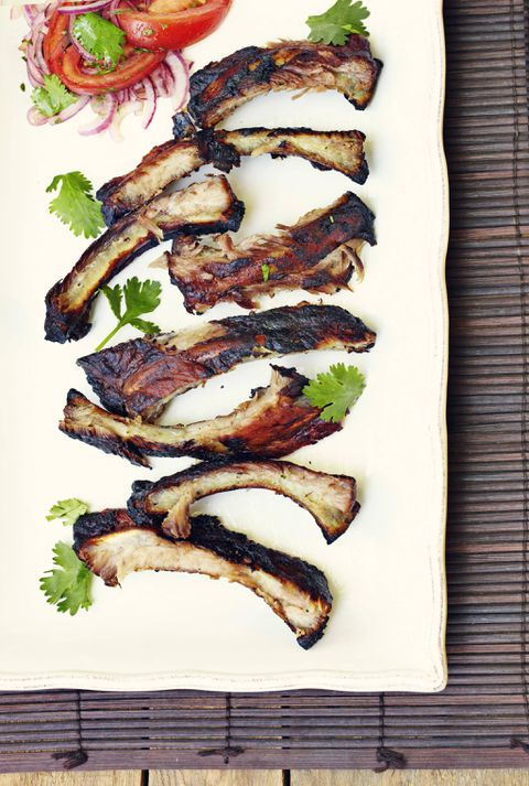 Recipe: Chilean slow barbecued pork ribs with Chilean salad