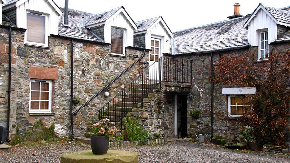 Monachyle Mhor is 10 miles outside Callander. Reach it by winding single-track road or charter a small plane from Glasgow Scotland.
